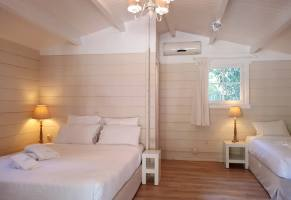 wooden bungalows bedroom